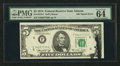 Error Notes:Ink Smears, Fr. 1973-F $5 1974 Federal Reserve Note. PMG Choice Uncirculated 64EPQ.. ...