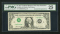 Error Notes:Inverted Third Printings, Fr. 1908-L $1 1974 Federal Reserve Note. PMG Very Fine 25.. ...