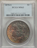 Morgan Dollars: , 1878-S $1 MS63 PCGS. PCGS Population (14704/18715). NGC Census: (14022/19625). Mintage: 9,774,000. Numismedia Wsl. Price fo...