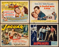 "Movie Posters:Adventure, Jaguar & Others Lot (Republic, 1955). Title Lobby Cards (3)& Lobby Card (11"" X 14""). Adventure.. ... (Total: 4 Items)"