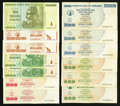 World Currency: , A Substantial Assortment of Notes from Zimbabwe.. ... (Total: 50notes)