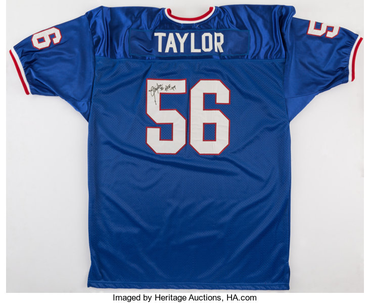 the latest 15435 c32f8 Lawrence Taylor Signed New York Giants Jersey.... Football ...