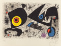 Fine Art - Work on Paper:Print, JOAN MIRÓ (Spanish, 1893-1983). Hommage à Miró, 1972.Lithograph in colors. 18 x 24-1/4 inches (45.7 x 61.6 cm)(sheet)...