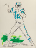 Fine Art - Painting, American:Contemporary   (1950 to present)  , LEROY NEIMAN (American, 1921-2012). Joe Namath, Super BowlMiami, 1969. Mixed media on paper. 15 x 11-1/2 inches (38.1x...