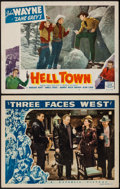 "Movie Posters:Adventure, Three Faces West & Other Lot (Republic, 1940). Lobby Cards (2)(11"" X 14""). Adventure.. ... (Total: 2 Items)"