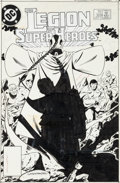 Original Comic Art:Covers, Keith Giffen and Larry Mahlstedt Legion of Super-Heroes #309Cover Original Art (DC, 1984)....