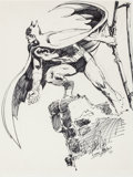 Original Comic Art:Sketches, Neal Adams - Batman Sketch Original Art (1971)....
