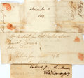 Autographs:Statesmen, [War of 1812]. Charles Thomson Signature and Two Documents Relatedto Soldiers on Watch. The signature, which has been r...