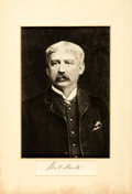 Autographs:Authors, Author Bret Harte Signature and Photograph. The clipped signature is affixed to the matting below a chest up portrait of the...