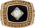 Baseball Collectibles:Others, 1981 Los Angeles Dodgers World Series Championship Ring Presentedto Pepe Frias....