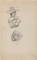 Fine Art - Work on Paper:Drawing, LAURA L. STODDARD (American, 20th Century). Group of Ten FiguralSketches. Pencil on paper. 14 x 8-1/2 inches (35.6 x 21...(Total: 10 Items)