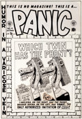 "Original Comic Art:Covers, Al Feldstein Panic #4 ""Which Twin Has the Phony?"" CoverOriginal Art (EC, 1954)...."