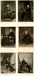 """Miscellaneous:Ephemera, Group of Fourteen Engraved Portraits of U.S. Presidents. Each page,which measures approximately 7.25"""" x 10.25"""", has been re... (Total:14 Items)"""