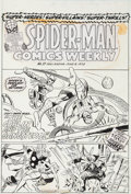 Original Comic Art:Covers, Rich Buckler and Mike Esposito Spider-Man Comics Weekly #17Cover Original Art (Marvel UK, 1973)....