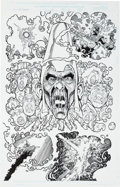 Original Comic Art:Splash Pages, George Perez and Scott Hanna Avengers V2#30 Splash Page 4Original Art (Marvel, 2000)....