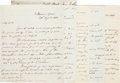 Autographs:Non-American, [Napoleon]. Sir Hudson Lowe Autograph Letters (3) Signed... (Total:5 Items)