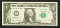 Error Notes:Ink Smears, Fr. 1913-B $1 1985 Federal Reserve Note. Fine-Very Fine.. ...