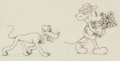 Animation Art:Production Drawing, Puppy Love Mickey Mouse and Pluto Animation Drawing (WaltDisney, 1933)....