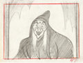 Animation Art:Production Drawing, Snow White and the Seven Dwarfs Old Hag Storyboard Drawing(Walt Disney, 1937)....