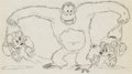 Animation Art:Production Drawing, Pet Shop Mickey Mouse and Minnie Mouse Animation Drawing(Walt Disney, 1933)....
