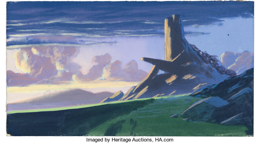 The Lion King Pride Rock Color Key Background By Greg
