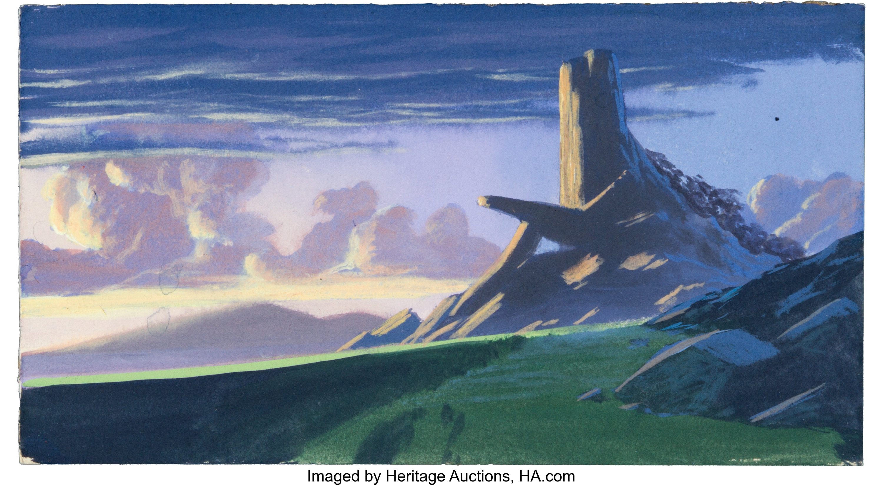 The Lion King Pride Rock Color Key Background By Greg Drolette Lot 95184 Heritage Auctions