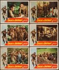 """Movie Posters:War, Back to Bataan (RKO, 1945). Lobby Cards (6) (11"""" X 14""""). War.. ...(Total: 6 Items)"""
