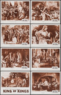 "Movie Posters:Historical Drama, The King of Kings (Cinema Corporation of America, R-1952). LobbyCard Set of 8 (11"" X 14""). Historical Drama.. ... (Total: 8 Items)"