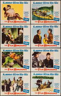 """Movie Posters:Western, The Far Horizons (Paramount, 1955). Lobby Card Set of 8 (11"""" X 14""""). Western.. ... (Total: 8 Items)"""