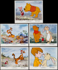 """Movie Posters:Animation, Winnie the Pooh and Tigger Too! (Buena Vista, 1974). Mini LobbyCard Set of 5 (8"""" X 10""""). Animation.. ... (Total: 5 Items)"""