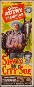 "Movie Posters:Western, Sioux City Sue (Republic, 1946). Insert (14"" X 36""). Western.. ..."