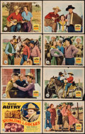 "Movie Posters:Western, Springtime in the Rockies (Republic, 1937). Lobby Card Set of 8 (11"" X 14""). Western.. ... (Total: 8 Items)"