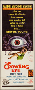 "Movie Posters:Science Fiction, The Crawling Eye (DCA, 1958). Insert (14"" X 36""). Science Fiction....."