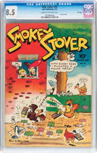 Four Color #35 Smokey Stover File Copy (Dell, 1944) CGC VF+ 8.5 Cream to off-white pages