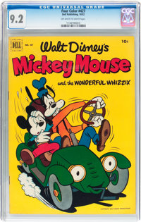 Four Color #427 Mickey Mouse (Dell, 1952) CGC NM- 9.2 Off-white to white pages