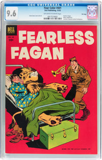 Four Color #441 Fearless Fagan File Copy (Dell, 1952) CGC NM+ 9.6 Off-white to white pages