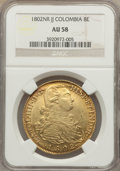 Colombia, Colombia: Charles IV gold 8 Escudos 1802 NR-JJ AU58 NGC,...