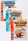 Memorabilia:Disney, Uncle Scrooge Comic Album Group Signed by Carl Barks (Gladstone, 1992-96). Condition: Average VF.... (Total: 6 Items)