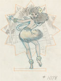 Animation Art:Production Drawing, Hank Porter - Hula Dancer WWII Insignia Illustration (Walt Disney,c. 1940s)....