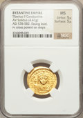Ancients:Byzantine, Ancients: Tiberius II Constantine (AD 578-582). AV solidus (4.47gm)....
