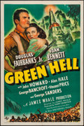 "Movie Posters:Adventure, Green Hell (Universal, 1940). One Sheet (27"" X 41""). Adventure....."
