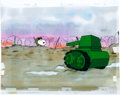 Animation Art:Production Cel, The Charlie Brown and Snoopy Show Snoopy as WWI Flying AceProduction Cel Setup and Animation Drawing Group (Bill Mele...(Total: 2 Original Art)