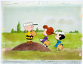 Animation Art:Production Cel, The Charlie Brown and Snoopy Show Baseball Game ProductionCel Setup and Animation Drawing Group (Bill Melendez, 1983)...(Total: 5 Items)
