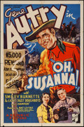 """Movie Posters:Western, Oh, Susanna! (Republic, 1936). One Sheet (27"""" X 41""""). Western.. ..."""