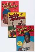 Golden Age (1938-1955):Non-Fiction, Jackie Robinson #2 and 4-6 Group (Fawcett Publications, 1950-52)Condition: Average VG.... (Total: 4 Comic Books)