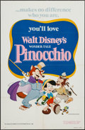 "Movie Posters:Animation, Pinocchio & Other Lot (Buena Vista, R-1978). One Sheets (2)(27"" X 41""). Animation.. ... (Total: 2 Items)"