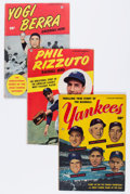 Golden Age (1938-1955):Miscellaneous, Golden Age New York Yankees Related Comics Group (Various Publishers, 1951-52) Condition: Average VG.... (Total: 3 Comic Books)
