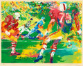 Prints, LEROY NEIMAN (American, 1921-2012). Football Players. Screenprint in colors. 22 x 28 inches (55.9 x 71.1 cm). Ed. 207/30...