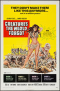 """Movie Posters:Fantasy, Creatures the World Forgot (Columbia, 1971). One Sheet (27"""" X 41"""")and Mini Lobby Cards (3) (8"""" X 10""""). Fantasy.. ... (Total: 4 Items)"""