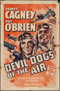 "Movie Posters:Action, Devil Dogs of the Air (Warner Brothers, R-1940s). One Sheet (27"" X41""). Action.. ..."